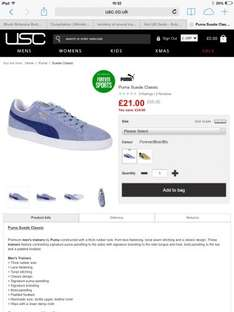 Puma suedes mens £21 @ USC in only size 4