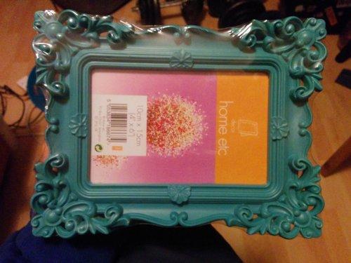 Aqua ornate picture frame £1.00 @ Poundland