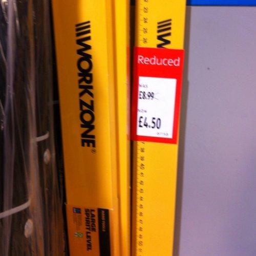 1/2 PRICE Large Sprit Level (150cm/1500mm) £4.50 @ Aldi Tamworth