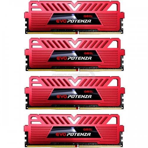 GeIL EVO Potenza 32GB (4x8GB) DDR4 PC4-24000C16 3000MHz Quad Channel Kit - Red (GPR432GB3000C16DQC) - £389.99 @ OCUK