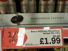 Kenco Millicano Wholebean Instant Coffee 100g £1.99 at Morrisons