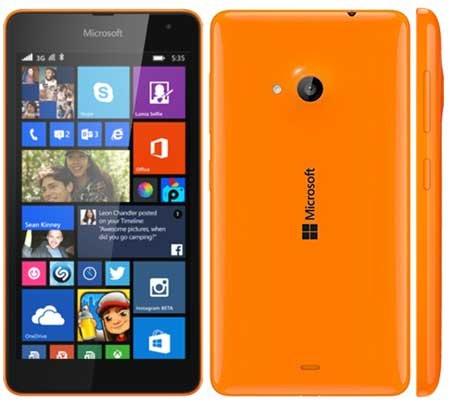 Microsoft Lumia 535 Smartphone Unlocked 3G (Screen: 5 inches - 8 GB - Dual SIM - Windows) White, Black, Orange Blue. 109 euros + 5.64 Delivery (£90.42) Amazon.fr