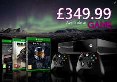 Xbox One Console with Forza 5 GOTY DL + Cod:AW + Halo MCC + Extra Controller £349.99 @ Game