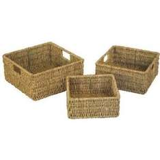 Woodluv Brand New Set Of 3 Square Storage Seagrass Basket..£8.25 @ amazon seller (No minimum spend free delivery)