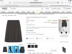 M&S girls school skirt 2 pack from £1.... Various styles available