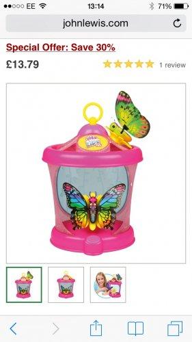 Little live butterfly & house £13.79 @ John Lewis
