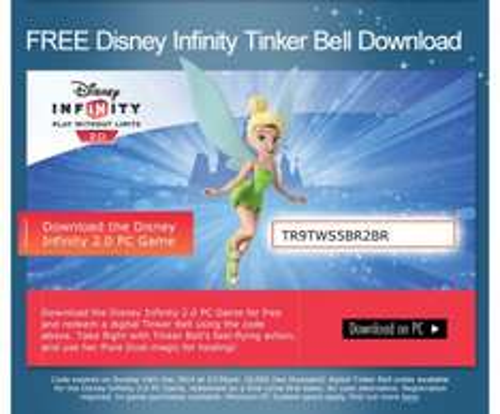 Free Disney Infinity 2.0 Character (PC/Digital)
