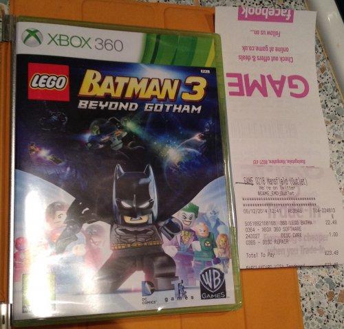 Lego batman 3 @ Game £22.49. Online too