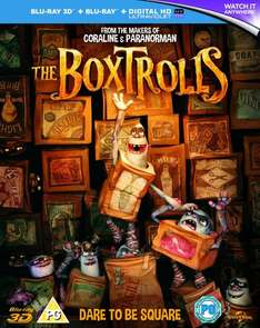 Boxtrolls 3D Bluray Preorder £13 Amazon