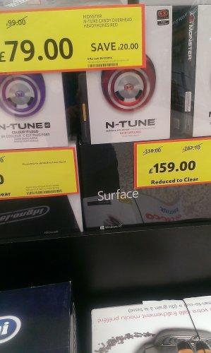 Microsoft Surface 32gb WinRT £159.00 instore @ Tesco
