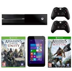 Xbox One Console (Assassin's Creed Unity, Black Flag, Extra Controller, Linx Tablet £349 @ Amazon