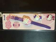"""Hello Kitty LCD watch """"Stocking fillers"""" for £1 only @ B&M"""