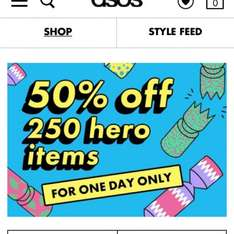50% off 250 items at ASOS - today only