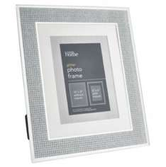 """Large 10"""" x 8"""" glitter silver photo frame £3 @ Asda in store"""
