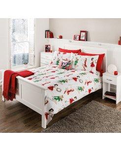 Asda 50's Pin Up Christmas Bedding £7