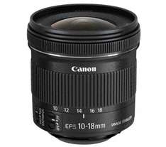 CANON EF-S 10-18 mm f/4.5-5.6 IS STM Wide-Angle Zoom Lens £182.29 with code + cashback @ Currys using home delivery