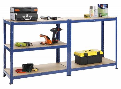 Heavy Duty Steel & MDF 5 Tier Racking Shelf or Workbench  875Kg Capacity  £19.99+£9.99 Delivery @ Amazon/Designer Habitat
