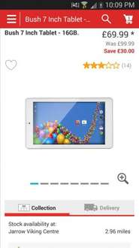 Bush 7 Inch Tablet - 16GB. *glitch* (using argos App) £49.99 @ Argos