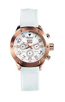 Men's Automatic Watch with White Dial Analogue Display and White Silicone Strap IN1212RWH £75.10 @ Amazon