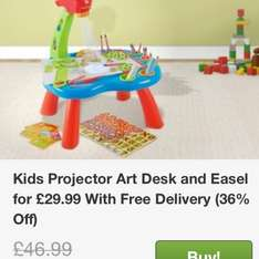 Kids projector art desk and easel £29.99 @ Groupon