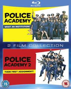 Police Academy /Police Academy 2 Double Pack [Blu-ray] £3.80 & FREE Delivery in the UK on orders over £10 @ Amazon