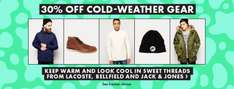 30% off 6000 cold weather products at ASOS