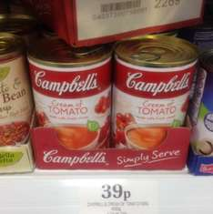 Campbell's Cream of Tomato Soup 400g cans 39p @ Home Bargains