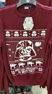 Star Wars Christmas Jumper at Sainsburys - £13.50 with current 25% off clothing deal