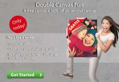 FREE Canvas + a second one with 50% OFF @ Picanova