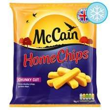 McCain Extra Chunky Home Chips - 1kg - Half-Price @ Tesco £1.30