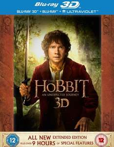 The Hobbit: An Unexpected Journey - Extended Edition [Blu-ray 3D + Blu-ray] [2012] [Region Free] £15.30 @ Amazon