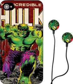 Marvel Earbud Headphones and iPhone 5 Case - Hulk 12 Month Argos Warranty. £4.99 @ Argos ebay