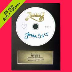 JESSIE J CD Signed DISC Autograph A5 Mounted Quality Print Display £3.99 @ ebay /  autographgallery2012