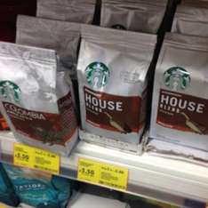2x Starbucks houseblend / colombia ground coffee and beans (all 200g) 2 for £5 in tesco with 2 free regular lattes in a Starbucks coffee shop