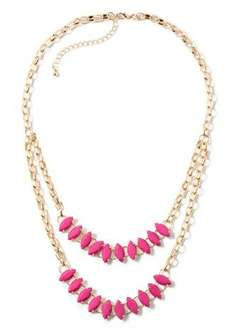 Double Layer Stone Necklace  Now £2.00 Was £8.00 @ matalan BUY 1 GET 1 FREE!