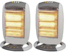 2 x Halogen Heater 1200W Electric Oscillating Heaters £17.99 @  Ebay / price-drop-outlet  (Ex display)
