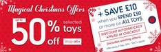 Mothercare 50% off selected toys plus £10 off when you spend £50 ends today