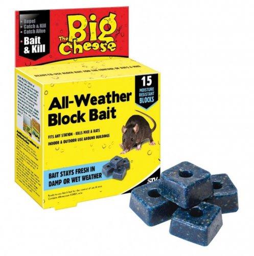 Big Cheese Block Bait (rat & mouse killer) 15 blocks £1.99 at Home Bargains instore