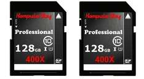 Komputerbay 2 PACK - 128GB SDXC Class 10 @ Amazon for £61.15