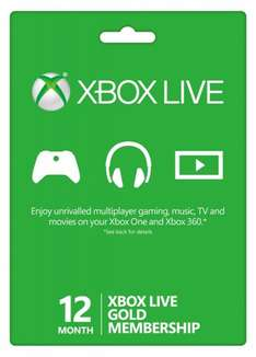 Xbox Live 12 Month Membership (Physical Card) - £29.86 (£24.86 with Mastercard Code) @ Amazon