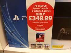 Playstation 4 + Driveclub + one selected game. £349.99 @ Sainsburys instore