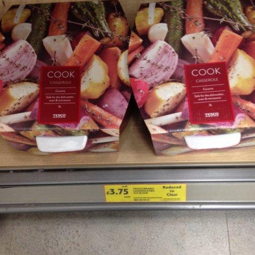 Ceramic casserole 3L £3.75 @ Tesco instore (chester homeplus)