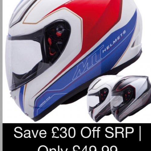 MT motorbike helmet - was £79.99 now £49.99 at MandP