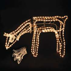 3D Moving Reindeer Rope decoration B&M £24.99