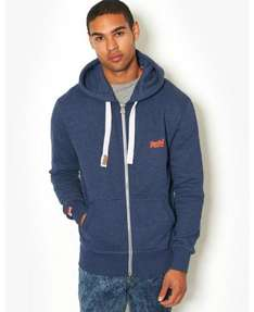 BANK FASHION- Mens Superdry Orange Label Zip Hoody- £30.00 when you collect from store