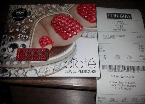 Ciate Jewel Pedicure Kits, Red Or Black, In TJ Hughes, Glasgow, £3.99