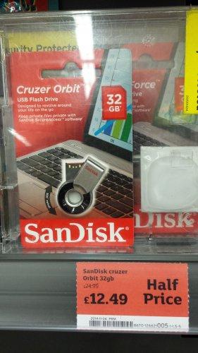 32gb SanDisk Cruzer Orbit USB Memory Stick £12.49 @ Sainsburys instore