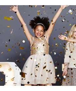 emma bunton's girls gold sequin net dress age 2-9yrs £9.99 @ argos reduced from 19.99