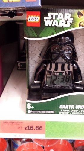 Lego Star Wars Darth Vader Clock & Lego Batman Clock - £16.66 - Instore Sainsbury's