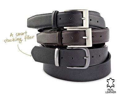 Men's Premium Leather Belt £4.99 @ ALDI